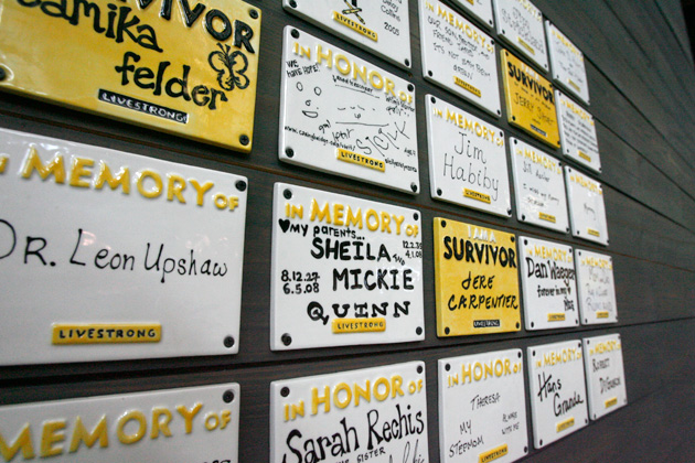 Tribute Wall at LIVESTRONG HQ