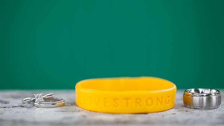 The wedding couple has made a generous donation in honor of their guests to LIVESTRONG.