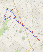 Gmap Pedometer of Philly Challenge Map